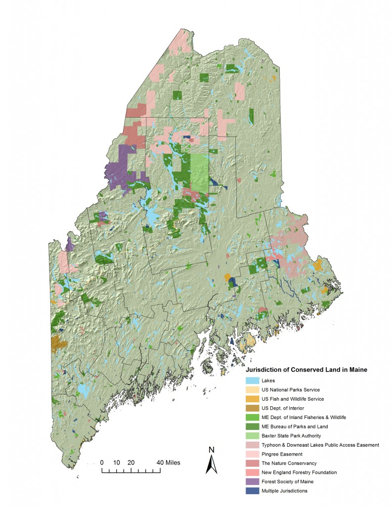 Jurisdiction of Conserved Land in Maine